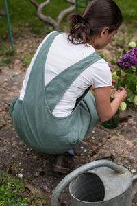 Couleur Chanvre - couleur jade - Tablier De Jardin