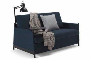 INNOVATION - canapé design neat gris bleu convertible lit 135*2 - Canapé Lit