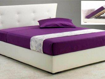 STYLEHOUSE  - lit coffre metropolis haut de gamme avec tête de l - Lit Coffre