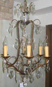 Demeure et Jardin - lustre 6 lumières - Lustre