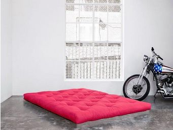WHITE LABEL - matelas futon coco rose 100*200*16cm - Futon