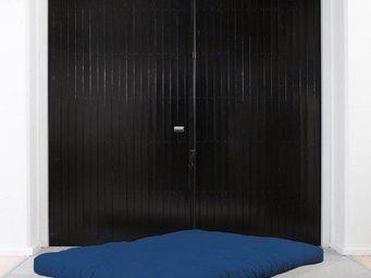 WHITE LABEL - matelas futon coco bleu royal 200*200*16cm - Futon