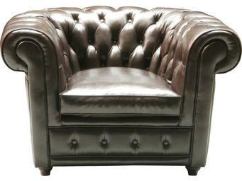 Kare Design - fauteuil club oxford cuir - Fauteuil Chesterfield
