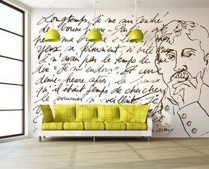 IN CREATION - proust sur blanc - Papier Peint Panoramique