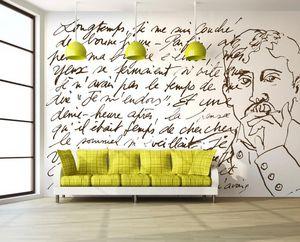IN CREATION - proust sur blanc - Papier Peint Panoramique