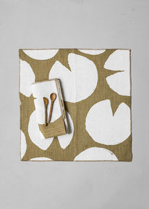 FINE LITTLE DAY - water lilies  - Nappe Et Serviettes Assorties