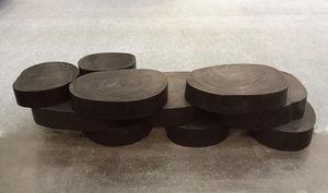 Atmosphere D'ailleurs - rondins - Table Basse Forme Originale