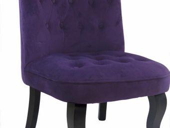 Cotton Wood - fauteuil crapaud alexia aubergine - Fauteuil Crapaud