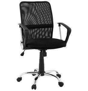 KOKOON DESIGN - fauteuil de bureau noir en mesh réglable 47x47x43- - Chaise De Bureau