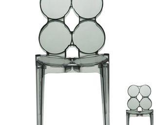 WHITE LABEL - duo de chaises noir - jelly - l 56 x l 48 x h 85 - - Chaise