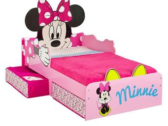 WHITE LABEL - lit + matelas morpho 140*70 cm disney - minnie n°2 - Lit Enfant