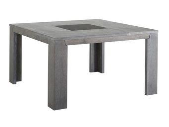 TOUSMESMEUBLES - table de repas carr�e ch�ne gris� - titus - l 140 - Table De Repas Carr�e