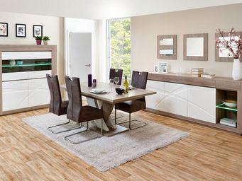 WHITE LABEL - salle à manger complète n°2 - swim - l 225 x l 100 - Salle À Manger