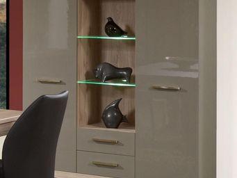 WHITE LABEL - vaisselier 2 portes 2 tiroirs - dris - l 140 x l 4 - Vaisselier