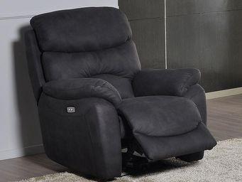 WHITE LABEL - fauteuil relax électrique - eracles - l 99 x l 98 - Fauteuil De Relaxation