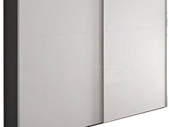 WHITE LABEL - dressing design frizz de jutzler 200 cm, portes co - Armoire Dressing