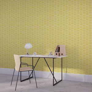 la Magie dans l'Image - papier peint lotus jaune foncé - Papier Peint