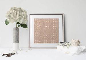la Magie dans l'Image - print art anis beige foncé beige - Estampe