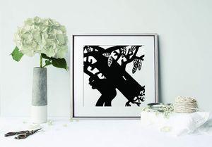 la Magie dans l'Image - print art arbre noir et blanc - Estampe
