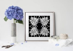 la Magie dans l'Image - print art graphic flowers noir - Estampe