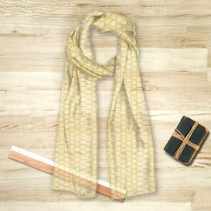 la Magie dans l'Image - foulard lotus jaune blanc - Foulard Carré