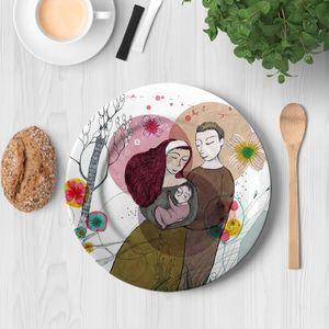 la Magie dans l'Image - assiette famille - Assiette À Asperges