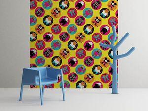 la Magie dans l'Image - grande fresque murale héros pattern jaune - Papier Peint Panoramique