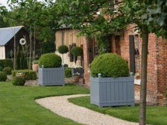 jardinieres.net - acacia peint_.. - Bac D'orangerie