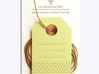 LES EDITIONS DU PAON - pois carrés - Etiquette Cadeau De Noël
