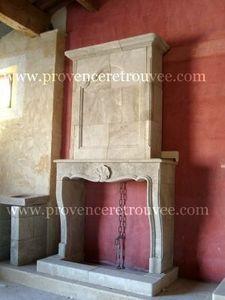 Provence Retrouvee - cheminée louis xv a trumeau - Manteau De Cheminée