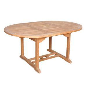 BOIS DESSUS BOIS DESSOUS - table de jardin en bois de teck midland 6/8 places - Table De Jardin Ovale