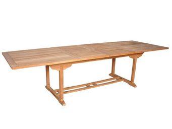 BOIS DESSUS BOIS DESSOUS - table de jardin en bois de teck midland 10/12 plac - Table De Jardin À Rallonges