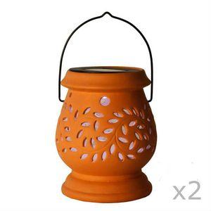 Best Season - clay lantern - Lampe De Jardin