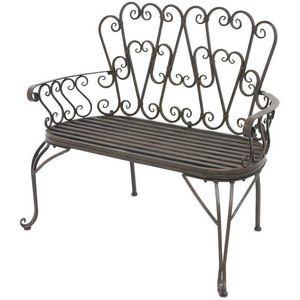 CHEMIN DE CAMPAGNE - banc fauteuil en fer de jardin 105 cm - Banc De Jardin