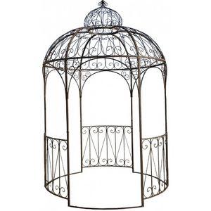 CHEMIN DE CAMPAGNE - tonnelle pergola kiosque de jardin en fer ø 200 cm - Kiosque