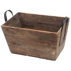 CHEMIN DE CAMPAGNE - grand casier panier caisse en bois 69x40x43 cm - Casier De Rangement