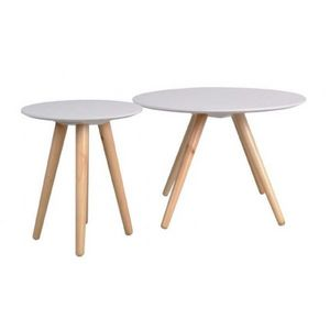 Mathi Design - table ronde scandy - Table D'appoint