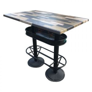 Mathi Design - table haute industrielle 110 deauville - Mange Debout