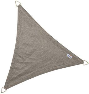 jardindeco - voile d'ombrage triangulaire coolfit anthracite - Voile D'ombrage