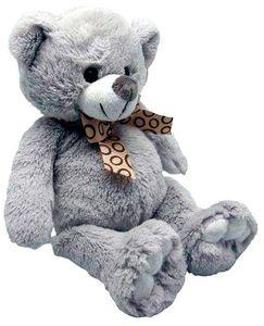 Aubry-Gaspard - peluche ours en acrylique gris - Peluche
