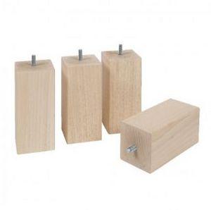 Lamy - naturel carré bois - Pied De Lit