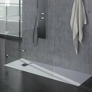 Grandform - receveur de douche matt grandform 100x80 en ardoise, en 5 couleurs - couleur: cr - Receveur De Douche À Poser