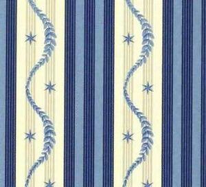 Illustration Bleue -  - Tissu Mural