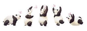 DECOLOOPIO - les 5 pandas - Sticker Décor Adhésif Enfant