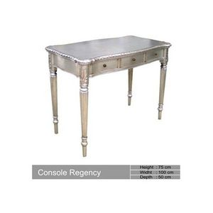 DECO PRIVE - console en bois argente baroque regency deco prive - Table Console