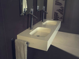 SILESTONE et ECO BY COSENTINO - modele unique 2 vasques - Lavabo