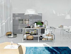 Elmar Cucine -  - Ilot De Cuisine Équipé
