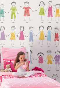 DECLIK - ribambelle 2 - Papier Peint Enfant