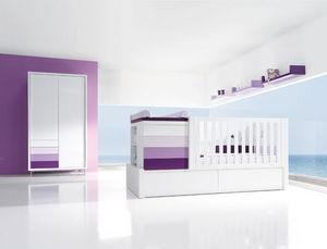 ALONDRA - konver quatro violet - Lit Évolutif