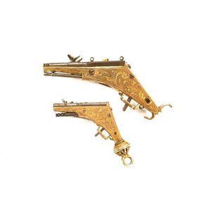 Peter Finer - a very rare german all-metal miniature wheel-lock - Carabine Et Fusil